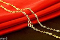 Wholesale 999 singapore gold resale online - NEW Fine Pure k Yellow Gold Necklace Women Singapore Link Chain g