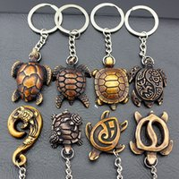 yak jewelry 도매-보석 도매 20PCS / LOT 하와이 서핑 바다 거북이 열쇠 고리 모조 야크 뼈 귀여운 거북이 열쇠 고리 남성 여성용 선물 열쇠 고리