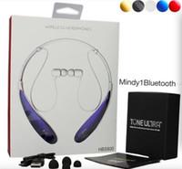 ingrosso bluetooth earphones iphone plus-HBS 800 Auricolare Bluetooth Cuffie Auricolari hbs 800 Wireless Neckbands per iphone 6 6s 6 Plus 7 plus senza logo Con scatola al minuto