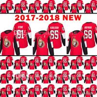nakış taşları toptan satış-2017-2018 Yeni Ottawa Senatörler 61 Mark Taş Jersey 18 erkek 65 Erik Karlsso 68 Mike Hoffman Hokeyi Formalar Nakış