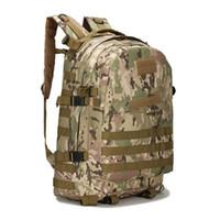 dağcılık sırt çantası toptan satış-Taktik spor Sırt Çantaları Sırt Çantaları bagaj Çanta Açık Spor tırmanma dağcılık için Kamp Yürüyüş Treking Sırt Çantası Seyahat adam 55L 3D