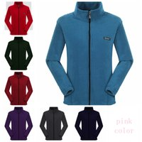Wholesale polar jacket outdoor online - 8colors Fleece jacket Sherpa Pullover women Cardigan solid Polar Fleece Coat zipper thick sweater Outdoor Sweatshirts jackets GGA1008