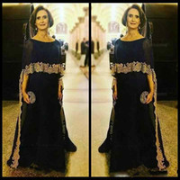 Wholesale Jewel Neck Maxi Dress - Elegant Scoop Neck Modest Navy Blue Mother of the Bride Dresses With Wrap Gold Lace Applique Formal Evening Gowns Mother Maxi Dresses