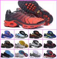 Wholesale pa lighting - Vapormax 2018 Men Original PLUS TN Air Running Shoes Discount TOP Quality Basket Ultra Tn Requin Pas Cher Chaussures EUR 40-46 Free Shipping