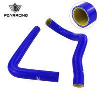 ingrosso tubo flessibile-TUBO FLESSIBILE IN SILICONE blu giallo per TOYOTA SUPRA JZA80 2JZ GTE TURBO NON VVTI 93-98 con logo PQY PQY-LX2001T-QY