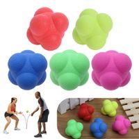 brinquedos adultos unisex venda por atacado-TRP Hexagonal Saltando Bola Sólida Treinamento de Fitness Agilidade Velocidade Reação Bola Esportes Ao Ar Livre Bola de Brinquedo para Adulto Crianças Exercício