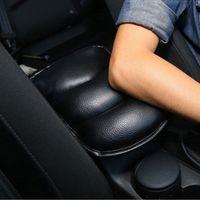 leder-selbstkissen großhandel-Schwarzes Auto Auto Mittelarmlehne Konsole Box Leder Soft Cushion Pad Cover