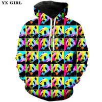 pandabild-sweatshirt großhandel-YX GIRL Lovers Hooded Sweatshirt 3D gedruckte Panda bunte Frauen Männer Sweatshirt Pullover Hoodie Langarm-Mantel Unisex-Jacke