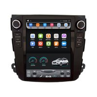 Wholesale peugeot screen - for 06-12 Mitsubishi Outlander Peugeot 4007 Citroen C-Crosser 10.4 inch Tesla Vertical touch Screen Android Car GPS Navigation