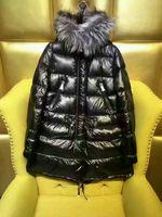 Wholesale Cross Waterproof Jacket - New Outdoor new brand women down jacket black women's winter coats 90%white duck down waterproof windproof fox fur hooded casual long parkas