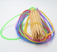 Wholesale knitting bamboo circular online - Multi Color cm Tube Circular Carbonized Bamboo Knitting Needles Crafts Sewing Tools Accessory js C R