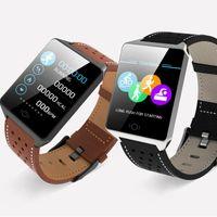 smartwatch para la venta al por mayor-Venta caliente CK19 Pulsera Inteligente Monitor de Ritmo Cardíaco Pulsera de Fitness Inteligente Presiómetro de Presión Arterial IP67 Impermeable Smartwatch Despertador