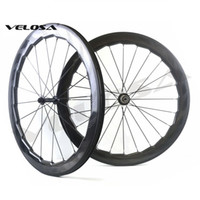 Wholesale Clincher Track Wheelset - Velosa NSW 454 58mm dimple wheels,700C road bike carbon wheels,Showstopper brake track,clincher tubular carbon wheelset