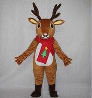 trajes de rena adulta venda por atacado-2018 Alta qualidade novo traje de mascote de rena de Natal para adulto para usar