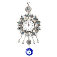 Wholesale flower sun glasses for sale - Group buy Lucky Sun Flower Evil Eye Wall Hanging Alloy Metal Watch Glass Charm Jewelry Amulet Home Decoration Protector Ornament