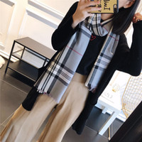 Wholesale cotton linen scarves for sale - Group buy Luxury Winter Cashmere Scarf Pashmina For Women Brand Designer Mens warm Plaid Scarf Fashion Women imitate Cashmere Wool Scarves x70cm