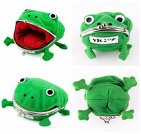 Wholesale Funny Cartoon Bags - Baby Kids Children Frog Shape Cosplay Coin Purse Wallet Soft Furry Plush Funny Naruto Storage Bag DDA191