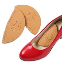 autocollant d'emballage de détail achat en gros de-Cuir arche pad triangle arc soutien chaussure pad confortable respirant femmes haut talon autocollant semelle avec emballage de détail