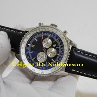 Wholesale luxury watches navitimer resale online - 2 Style Luxury Mens Navitimer mm Chronograph Black Dial Black Strap Watch A23322 A13022 AB031021 BF77 P Quartz Movement Men s Watches