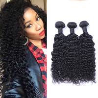 Wholesale jerry curl weave extensions human hair online - Indian Jerry Curl Unprocessed Human Virgin Hair Weaves A Quality Remy Human Hair Extensions Human Hair Weaves Dyeable bundles
