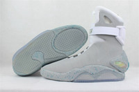 Wholesale Mag Led - Air Mag Sneakers Marty McFly's LED Shoes The Future Glow In The Gray Black Mag Marty McFly Sneakers With Box Top Quality Basketball Shoes