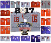 jerseys clemson al por mayor-NCAA Clemson Tigers 16 Trevor Lawrence 4 Deshaun Watson 2 Kelly Bryant 9 Travis Etienne Jr. 13 Camisetas de fútbol de Hunter Renfrow College