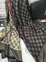 prix des écharpes achat en gros de-CHAUDE Marque Marque Foulards En Soie Usine Prix En Gros 100% Soie Foulard De Mode Fille Accessoires Tête Foulard Femmes 180X70cm