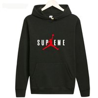 Wholesale long hoodies for men - Europe classic plus cashmere Hoodie sleeve head loose money for men and women