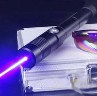 лазерные очки оптовых-Черный монстр 450nm 2000000m синий лазерная указка лазерная ручка лазерная факел использование 2x18650 + зарядное устройство + очки+ металлическая коробка
