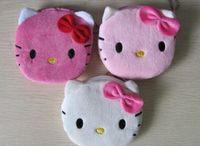 kawaii make-upbeutel großhandel-Super Kawaii 10 CM Hallo Kitty Dame Geldbörse Portemonnaie Pouch Tasche Makeup Tasche Frauen Handtasche