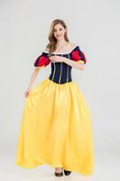 erwachsene prinzessinkleider großhandel-Großhandelsheiße Arten geben Versand frei, schneeweißes Kleid neu, Erwachsener Halloween-Handel, Prinzessin Princess Backless Dress Ballkleid