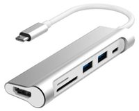 Wholesale Usb Macbook Air - High quality Type-C 6-in-1 Hub PD 4K HD SD TF Card Reader USB 3.1 3.0 hubs for MacBook Pro Air Laptop