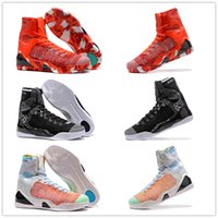 Wholesale Kb Shoes Elite - New 2018 Wholesale Kobe KB 9 IX Elite Black Mamba Blackout Christmas High Top Men Basketball Sport Shoes Training Sneakers Size EUR 40-46