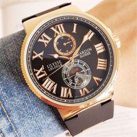 ingrosso orologio di ulysse-Top brand ULYSSE orologio da polso meccanico automatico da 44 mm Orologi da uomo di lusso famosi orologi Relogio orologio da polso ONU