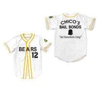 Wholesale bond movies - Bad News BEARS Movie Button Down 3 Kelly Leak #12 Tanner Boyle #4 #7 #17 #20 #13 Chicos Bail Bonds Baseball Jerseys