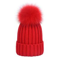 Pelliccia bianca Pom Pom Donna Cappelli invernali Pelliccia di visone  Pelliccia di volpe Cappello Donna Cappello di lana per ragazza Berretto di  cotone ... 74f45456203a