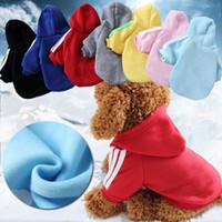xxl köpek kürkü kış toptan satış-Kış Sıcak Pet Köpek Giysileri Iki bacak Hoodie Küçük Köpekler Kazak Yavru Coat Pet Giyim Köpek Giyim için XS-XXL mk800