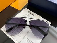 marcos gafas ligeras al por mayor-Nuevo diseñador de moda, gafas de sol de lujo Z044 pilotos ultraligeros Gafas de metal de medio marco uv400 Gafas de conducción de negocios de alta calidad