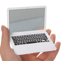 Wholesale Modern Air - MirrorBook Air White Mini Novel Makeup MirrorBook Air Mirror For Apple MacBook Shaped 88 H7JP DHL