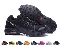 Wholesale Free Country - 2017 New Arrival Mens Speedcross 4 Sneakers Cheap Outdoor Waterproof Cross-country Running Shoes Athletic Shoes Size EUR 40-46 Free Shipping