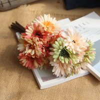 Wholesale Artificial Slik Daisy Flower Home Wedding Party Favor Decoration Real Touch Gerbera Flowers Indoor Decor Bridal Bouquet fh ff