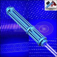 caneta laser militar venda por atacado-Novo Estilo Azul Marinho Pacote De Presente De Alta Potência NBE3-II Feixe Visível Militar 450nm Poderoso Foco Ajustável Azul Caneta Laser Pointer