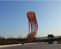 pipas do polvo venda por atacado-15 m única Linha Stunt Rainbow cor Parafoil Polvo PODER Esporte Kite Frete Grátis !!