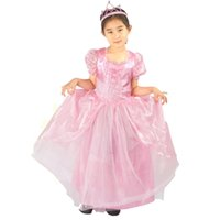 Wholesale costume for sale - Baby Girls PINK princess cosplay Dress Christmas Halloween Cosplay Costume Summer Dresses Girl Princess stage show for Birthday Party HC26