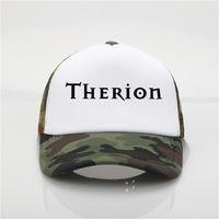 модели для пляжной шляпы оптовых-Последняя модель Therion группа печати net Cap бейсболка мужчины и женщины летняя тенденция новая молодежь Джокер ВС hat пляж козырек hat