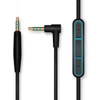 micrófono de los auriculares al por mayor-Leory Cable de audio Bose QC25 Para Quiet Comfort cable de auriculares de 2,5 mm a 3,5 mm cable de 1,5 m con control de volumen de micrófono