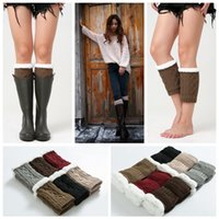 gehäkelte stiefelmanschette großhandel-12styles Mädchen Winter Short Stulpen Fashion Stricken Wolle Frauen Warm Crochet Knit Boot Socken Toppers Manschetten Beliebte street warmers FFA1126