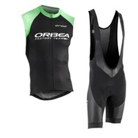 Wholesale 2018 ORBEA Sleeveless Cycling Jersey Quick Dry bib shorts Set D gel pad Maillot Ropa Ciclismo Brand Mtb bike shirt Clothing