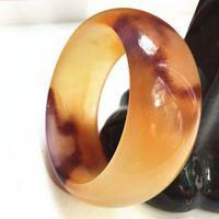 pulseiras de jade venda por atacado-Linda Noble Hetian Jade Pulseira Chinês Mão-Carved Colorido Pulseira 58-60mm