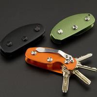 Wholesale key organizer edc for sale - Group buy Aluminum Alloy Folding Key Organizer Creative Durable Pocket Mini EDC Holder Multi Function Keychain Tools For Outdoor ya B